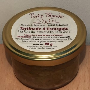 Tartinade escargots Ail des ours Perle Blanche